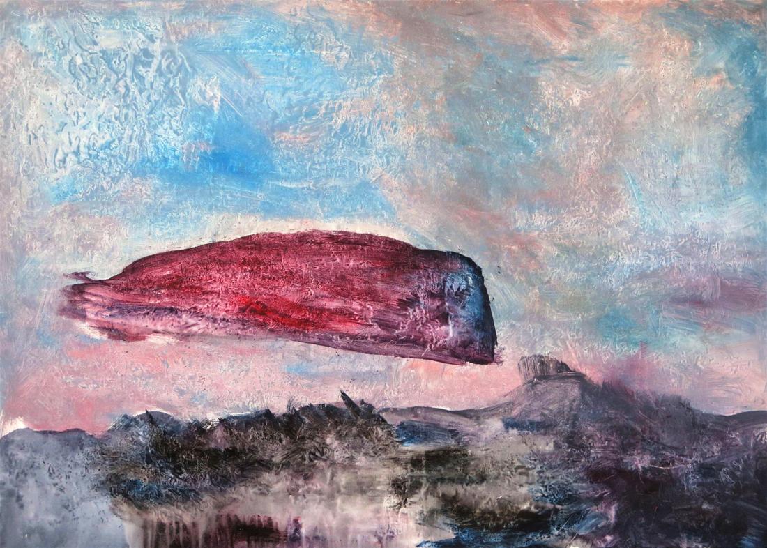 Arrival, 100x70 cm, Querformat, Acryl/Mischtechnik auf Leinwand